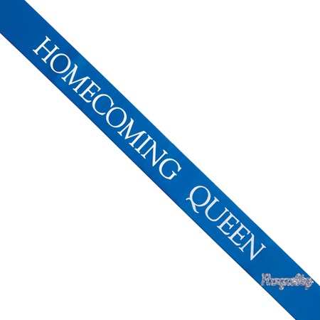 Homecoming Queen Sash with Royalty Pin- Blue