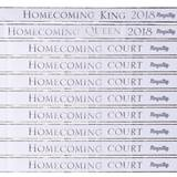 Homecoming Royalty Sashes and Pins Set - White/Silver Foil