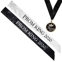 Prom King 2020 Sash and Medallion Set