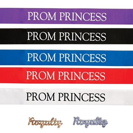 Prom Princess Ribbon Sash with Pin Set