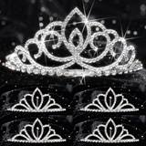 Five-piece Tiara Set - Sharona Queen and Chelsey Court
