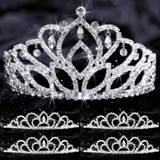 Five-piece Tiara Set - Mirabella Queen and Sissy Court