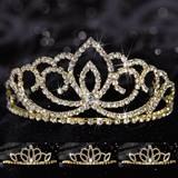Queen and Court Tiara Set - Gold Sasha and Lady-in-Waiting