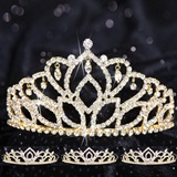 Queen and Court Tiara Set - Gold Mirabella and Kiley
