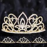 Queen and Court Tiara Set - Gold Adele and Chelsey