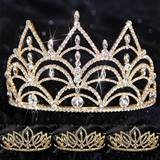Queen and Court Tiara Set - Gold Darlene and Toni