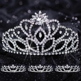 Queen and Court Tiara Set - Black Cassandra and Madison