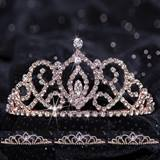 Queen and Court Tiara Set - Rose Gold Cameo Perfect and Sissy