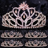 Five-piece Tiara Set - Rose Gold Cassandra Queen and Kiley Court