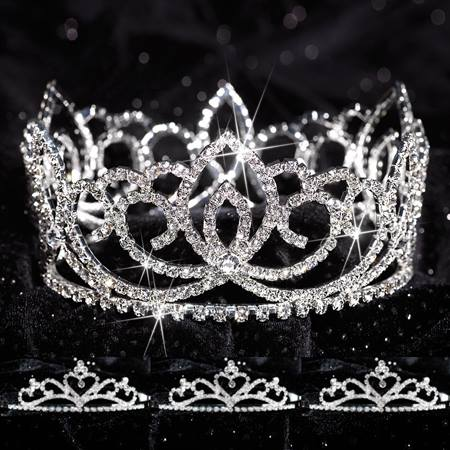 Prom Tiara Set - Full-crown Sasha Queen & Alisa Court