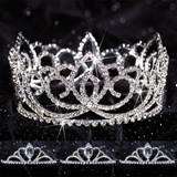 Prom Tiara Set - Full-crown Sasha Queen & Vicky Court