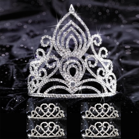 Five-piece Tiara Set - Amelia Queen and Amour Court