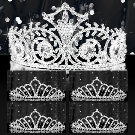 Tiara Set - Elsa Queen and Karen Court