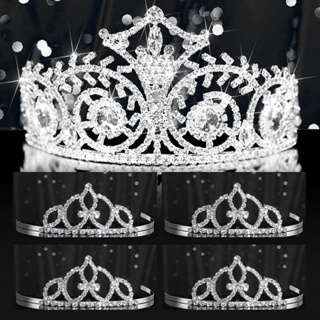 Tiara Set - Elsa Queen and Francine Court