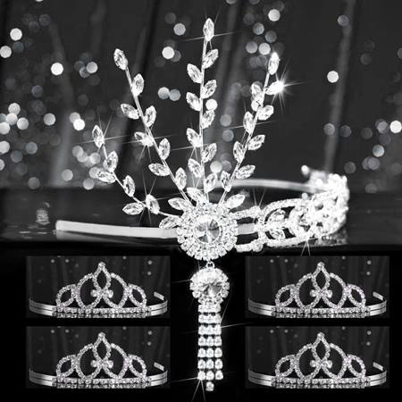 Tiara Set - Silver Daisy Queen and Francine Court