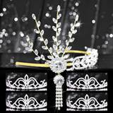 Tiara Set - Gold Daisy Queen and Arilda Court