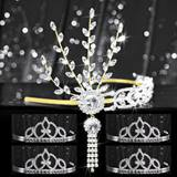 Tiara Set - Gold Daisy Queen and Francine Court
