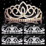Tiara Set - Gold Sasha Queen and Arilda Court