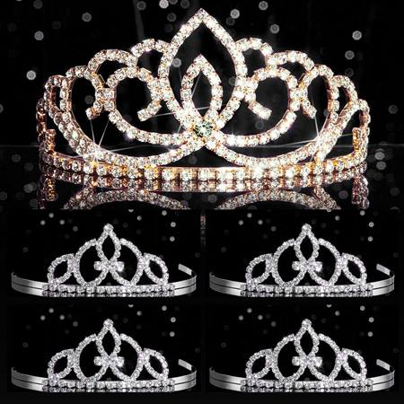 Tiara Set - Gold Sasha Queen and Francine Court