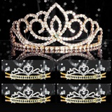 Tiara Set - Gold Sasha Queen and Gold Alisa Court