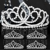 Tiara Set - Silver Sasha Queen and Karen Court