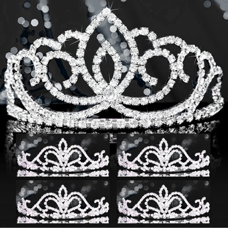 Tiara Set - Silver Sasha Queen and Arilda Court