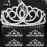 Tiara Set - Silver Sasha Queen and Francine Court