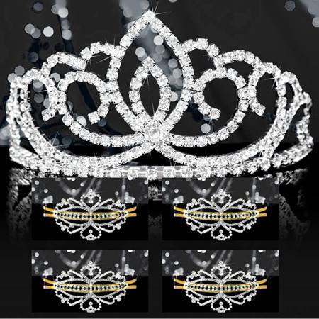 Tiara Set - Silver Sasha Queen and Gold Alisa Court