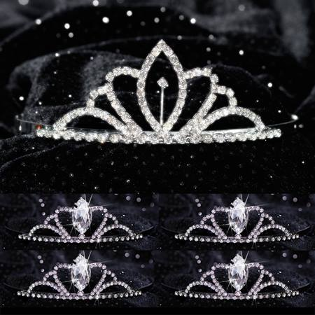 Tiara Set - Chelsey Queen and Black Vicky Court