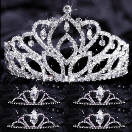 Tiara Set - Mirabella Queen and Black Vicky Court