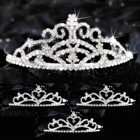 Four-piece Tiara Set - Titania Queen and Alisa Court
