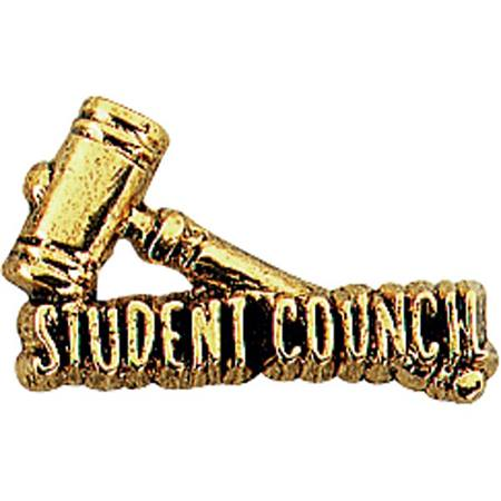 Student Council Award Pin – Gold-tone Gavel