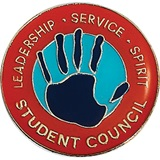 Student Council Award Pin – Leadership, Service, Spirit