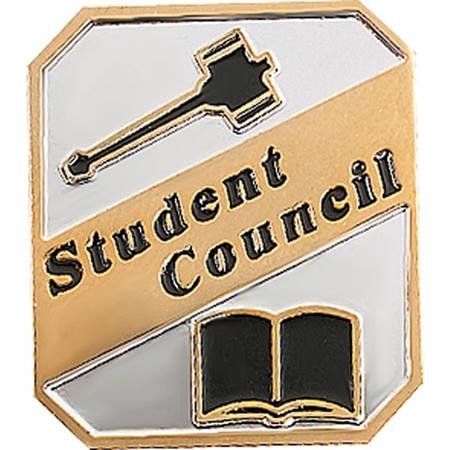 Student Council Award Pin – Gavel & Book