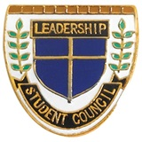 Student Council Award Pin – Leadership Shield