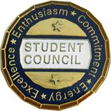Student Council Award Pin – Excellence, Enthusiasm, Commitment, Energy