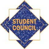 Student Council Award Pin – Blue Glitter Squares