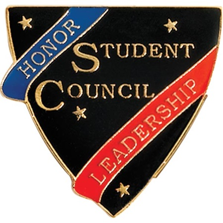 Student Council Award Pin – Honor & Leadership Shield