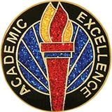 Academic Excellence Award Pin – Glitter Torch