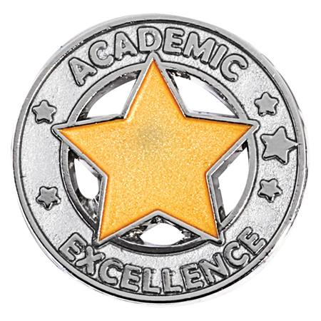 Academic Excellence Award Pin - Silver/Gold Star | Anderson's