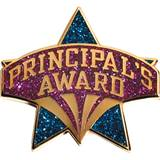 Principal's Award Pin – Purple Glitter on Blue Glitter Star