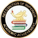 Academic Achievement Award Pin – Superior Recognition