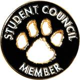 Student Council Award Pin – Die-cut Paw