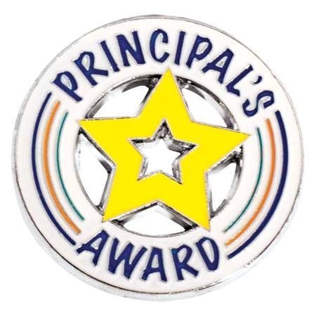 Principal's Award Pin - Die-cut Yellow Star