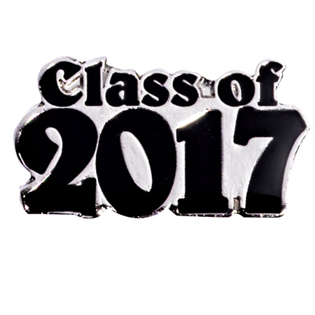 Class of 2017 Award Pin - Silver/Black