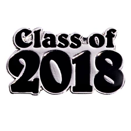Class of 2018 Award Pin - Silver/Black
