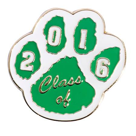 Class of 2017 Award Pin - Green and White