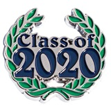 Class of 2020 Award Pin - Laurel Leaves