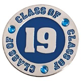 Class of 2019 Lapel Pin - Blue Rhinestones
