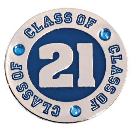 Class of 2021 Lapel Pin - Blue Rhinestones